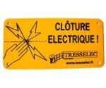 Plaque clôture électrique