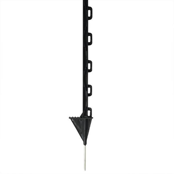 Piquets plastique noir 87 cm - Piquet cloture plastique ...