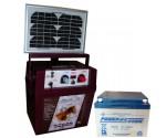 Electrificateur avec panneau solaire de 5 watts et batterie