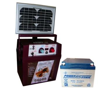 electrificateur avec panneaux solaire pour cl ture lectrique. Black Bedroom Furniture Sets. Home Design Ideas