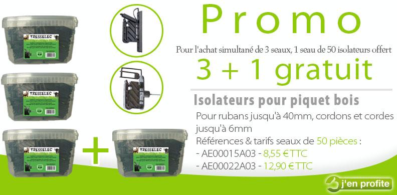 Promotion sur les isolateurs en seau de 50 pièces